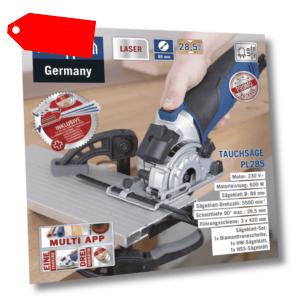 Scheppach Tauchsäge PL285 inkl. 3 x Führungssschiene, 3 x Sägeblätter + Zubehör