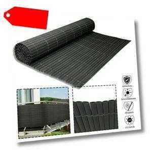 Anthracite PVC Bambuszaun Windschutz Sichtschutzzaun Sichtschutzmatte Balkon #