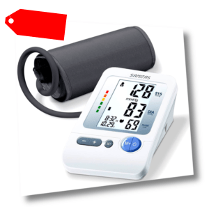 SANITAS Blutdruckmessgerät & Pulsmessung Oberarm 22-36cm vollautomatisch digital