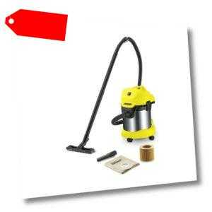 Karcher Multi Purpose Cleaner WD 3 Premium 17 LITRE STAINLESS STEEL BLOW FUNCTIO