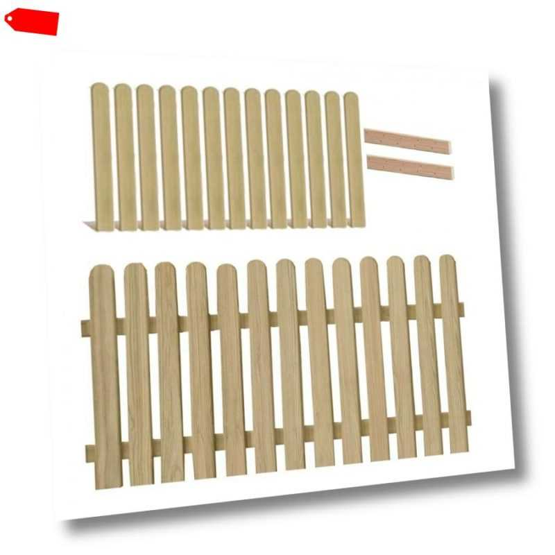 Holzpaket für Gartenzaun-Element Lärchenholz 180x90 mit 13 Zaunlatten 2 Riegel