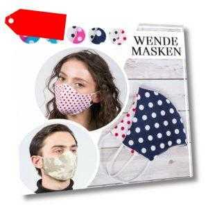 Maske Mundschutz 2-lagig Waschbar 100% Baumwolle Wiederverwendbar ABO-Fashion®