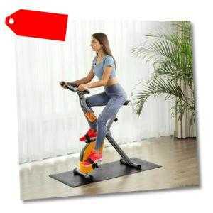 SONGMICS X Bike Heimtrainer Fitnessbike zusammenklappbares Fitnessfahrra SXB11OG