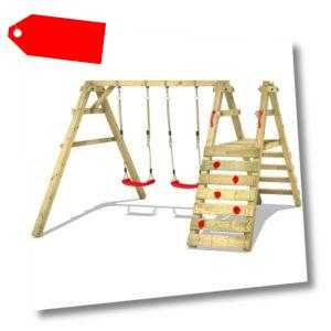WICKEY Schaukelgerüst Schaukelgestell Sky Runner Prime Doppelschaukel aus Holz