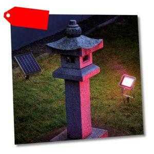 Solarstrahler RGB bunt Flutlicht Solarleuchte LED Garten Deko esotec 102703
