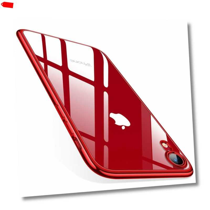 Handy Hülle iPhone 11 Pro Max 7 8 X Xr Xs Schutzhülle Case Transparent Etui Glas