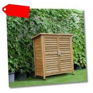 Holz Gartenschrank Gartenhaus Pultdach Gerätehaus Geräteschuppen Geräteschrank