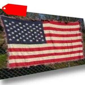 USA 50 Sterne Flagge 1.2m M X 1.8m Baumwolle Gewebt Überwurf Decke