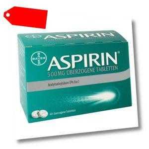 Aspirin 500mg 40stk PZN 10203626