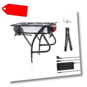 "E-Bike Pedelec 48V 16Ah 768Wh Akku Kit 26""-28"" Umbausatz+Gepäckträger+Ladegerät"