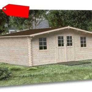 44 mm Gartenhaus Gera 500x500 cm Gerätehaus Schuppen Holz Holzhaus Blockhaus