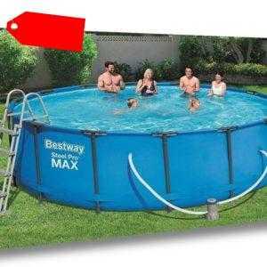 Bestway Pool 457 x 122 cm Planschbecken Swimmingpool Gartenpool Sets 56438