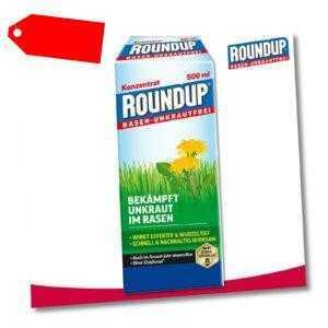 Roundup Rasen-Unkrautfrei 500 ml Konzentrat Wegerich Brennnessel Weißklee Garten