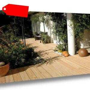 Douglasie KOMPLETTSET 3m/4m/5m Terrassendielen Holz Diele Bausatz Lärche farben