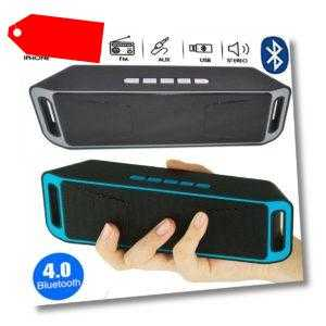 Wireless Bluetooth Lautsprecher Stereo Subwoofer PC Handy Musikbox AUX FM SD MP3
