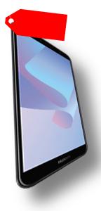 "Huawei Y6 2018 DualSim schwarz 16GB LTE Android Smartphone 5,7""..."