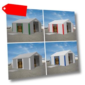 LAGERZELT 4x6m - 8x12m Lagerhalle Pavillon PVC 560g/m2 Weidezelt Industriezelt