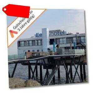 Kurzurlaub Nordsee Groningen Hotel auf Stelzen im Meer 4 Tage Gutschein 2 Pers.