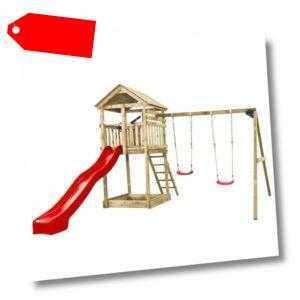 Swing King Holz Imprägniert Spielturm Kletterturm Kinder Schaukel Rutsche