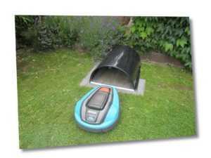 Garage / Carport für Mähroboter / Rasenroboter in modernem Design Größe B