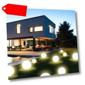 Grafner® 3x LED Solarkugel 20/30/40cm Solarleuchte Kugellampe Solarlampe Kugel