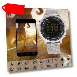 Fitness Armband Uhr Smartwatch mit Pulsmesser Wasserdicht für Damen Herren DHL