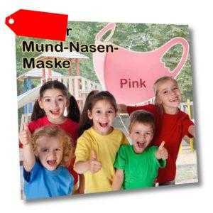 Kinder Kids 3D Mundschutz Schutzmaske Atemschutz Waschbar Pink
