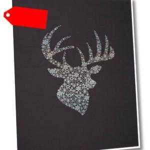Biederlack Wohndecke Orion Cotton | Deer Silhouette