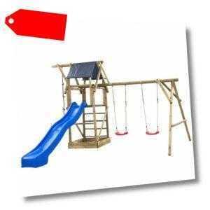 Swing King Holz Imprägniert Spielhaus Spielturm Rutsche Schaukel Sandkasten