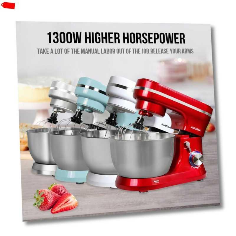 3 in 1 Küchenmaschine Profi Standmixer 5,5 Liter  Rühr- und...