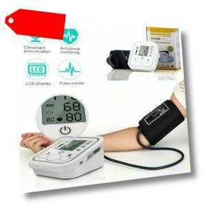 Automatisches Oberarm Digital LCD Blutdruckmessgerät Blutdruckmesser Pulsmesser