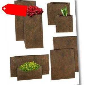 PFLANZWERK® Pflanzkübel & Blumenkübel - Pflanztrog & Blumentopf - In Rost Optik