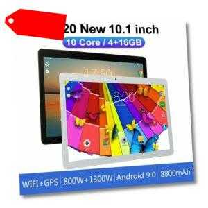"""10,1"""" HD WiFi PC Tablette Android 9.0 4+16GB 10 Core Bluetooth Google"""