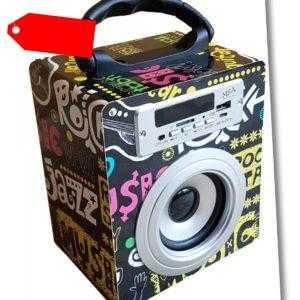 MOBILE BLUETOOTH SOUNDBOX TISCH LAUTSPRECHER RADIO FM AUX USB SD MP3 BOX WÜRFEL