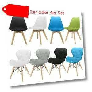 Set 2 4 Esszimmerstuhl Esszimmerstühle Sitzgruppe Gastro Stühle PU Polsterstuhl