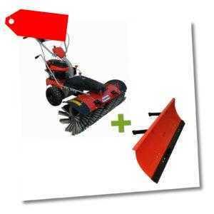 Kehrmaschine inkl. Schneeschild 100cm Benzin 4,9PS 173ccm Motorbesen Schnee