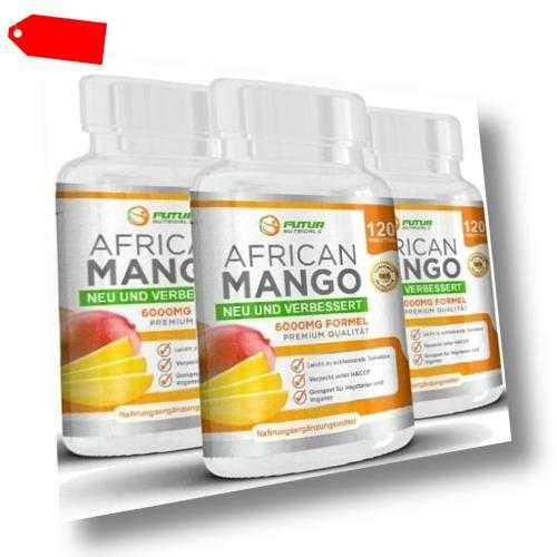 Pure AFRICAN MANGO 6000mg 360 Tabletten - Fatburner Diät Abnhemen Appetitzügler