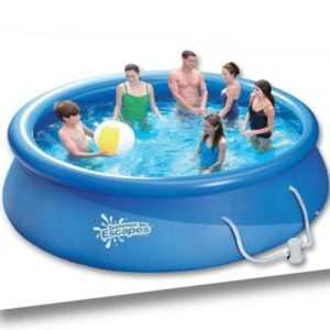 QUICK Up Pool rund 244 x 76 cm Schwimmbad mit Kartuschenfilter Swimmingpool