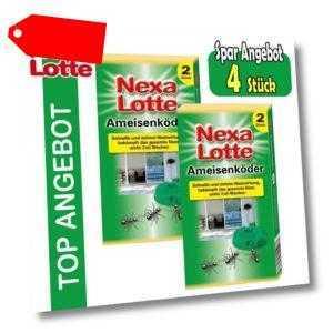 4 Stück Nexa Lotte Ameisenköder, Ameisen-Falle, Köderdose