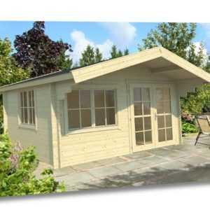 34 mm Gartenhaus + Fussboden 5x4 m Gerätehaus Blockhaus Ferienhaus Holzhaus Holz