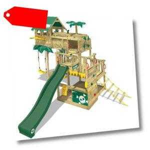 WICKEY Spielturm Klettergerüst Smart Castaway - Baumhaus mit Rutsche