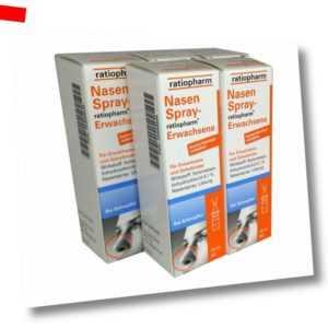 5x NASENSPRAY E Ratiopharm 15ml PZN: 8039036 (21,07€/ pro 100 ml)