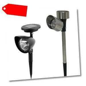 Grafner® Solarleuchte Solar Strahler Solarstrahler Solarlampe Pflanzenstrahler