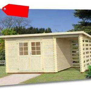 28 mm Gartenhaus 490x240-Anbau Gerätehaus Pultdach Schuppen Schleppdach Holzhaus