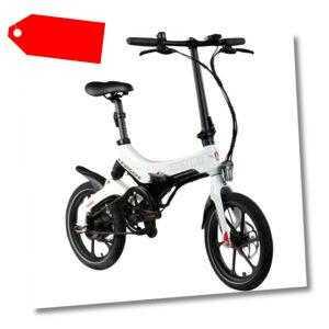 E Klapprad 16 Zoll Pedelec E-Bike Zündapp Z201 Elektrofaltrad Fahrrad StVZO Rad