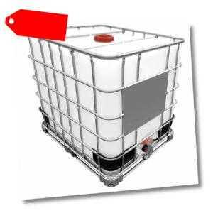 1000l IBC Wassertank Container Regenwassertank Tank GESPÜLT auf Stahlpalette