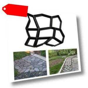 Pflasterform Pflastersteine Garten Beton Preiswert Schalungsform DIY Schwarz