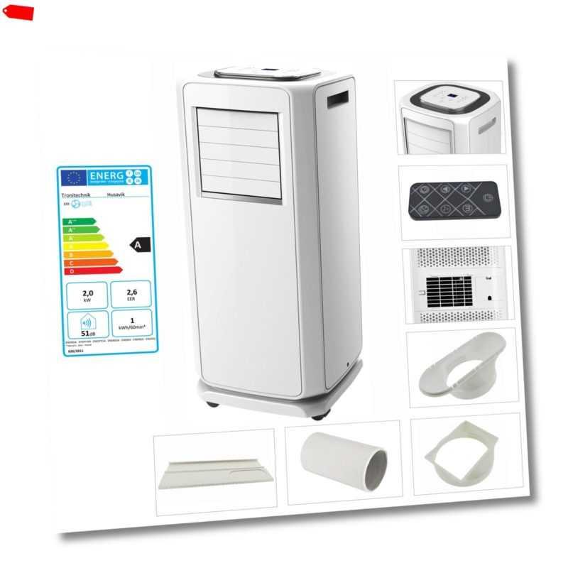 Mobiles Klimagerät Klimaanlage Luftkühler Kompakt Ventilator Fenster 7000 BTU; EEK A++