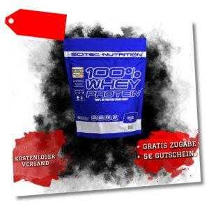 Scitec Nutrition 100% Whey Protein – 1000g Beutel Frey,EAAs,BCAA´s,Aminios B3