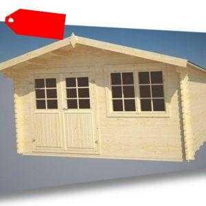 Gartenhaus Saale Gerätehaus Blockhaus Holzhaus 400 x 400 cm incl. Fussboden